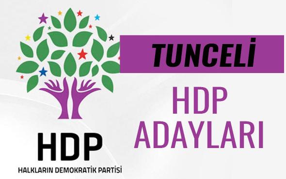 HDP Tunceli milletvekili adayları 27. dönem listesi