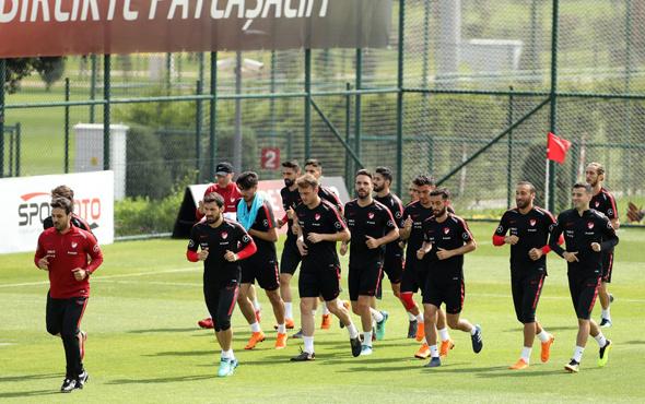 Milli Takım İran maçının hazırlıklarını sürdürdü