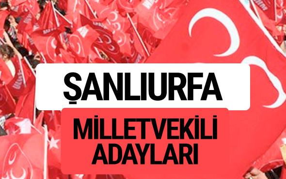 MHP Şanlıurfa milletvekili adayları 2018 YSK kesin listesi