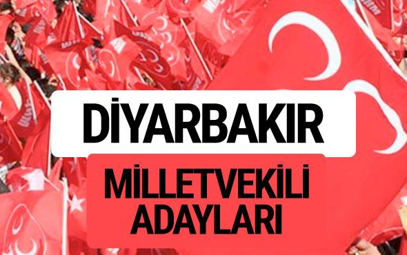 MHP Diyarbakır milletvekili adayları 2018 YSK kesin listesi