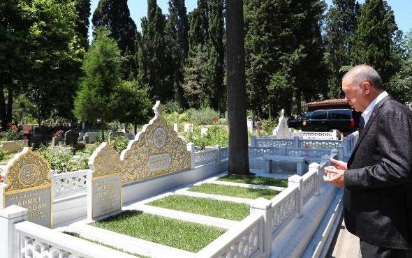 Erdoğan anne ve babasının mezarlarını ziyaret etti