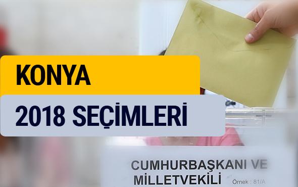 Konya seçim sonuçları 2018 YSK Konya oy sonucu