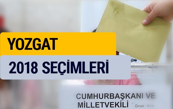 Seçim sonuçları 2018 YSK Yozgat seçim sonucu