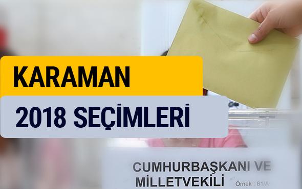 Seçim sonuçları 2018 YSK Karaman sonucu