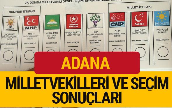 Adana Milletvekilleri 27. dönem 2018 Adana Seçim Sonucu