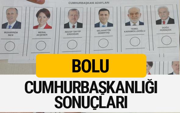 Bolu Cumhurbaşkanlığı seçim sonucu 2018 Bolu sonuçları