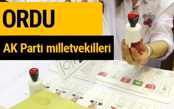 AK Parti Ordu Milletvekilleri 2018 - 27. dönem AKP isim listesi