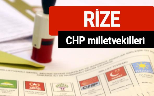 CHP Rize Milletvekilleri 2018 - 27. dönem Rize listesi