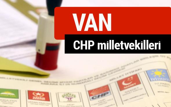CHP Van Milletvekilleri 2018 - 27. dönem Van listesi