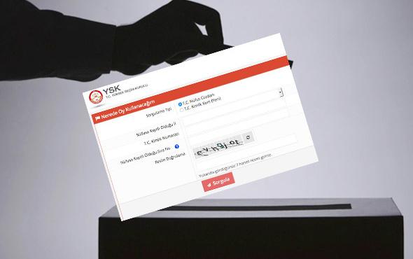 YSK sandık sorgulama e devlet seçimde nerede oy kullanacağım