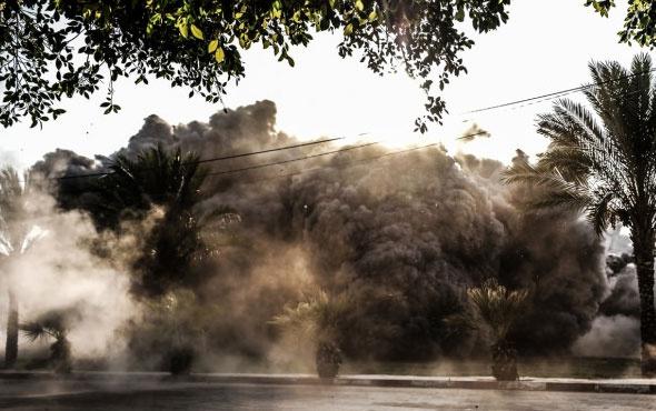 İsrail şehir merkezine bomba yağdırdı