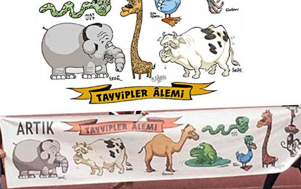 'Tayyipler alemi' karikatüründe ne var? ODTÜ skandal pankartı