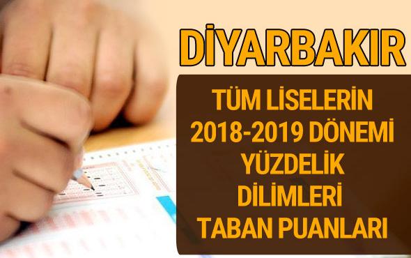 Diyarbakır Lise taban puanları 2018 -2019 nitelikli okullar LGS yüzdelik dilimleri