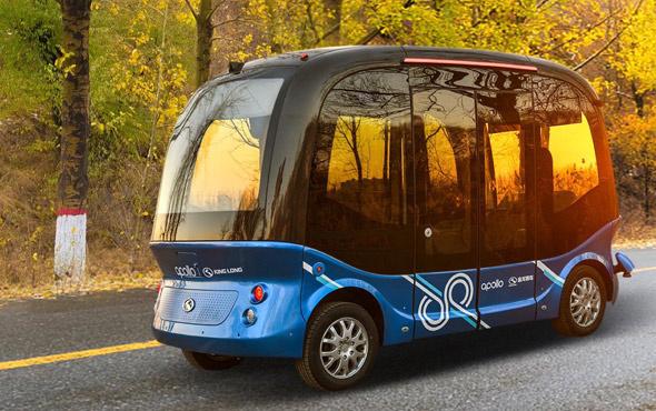 Çin'in ilk sürücüsüz otobüsü 'Apolong' kullanıma hazır