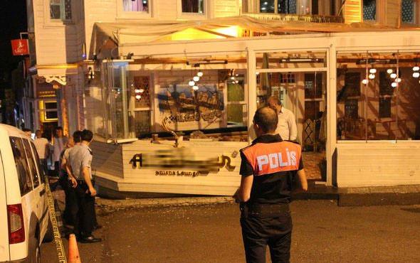 İstanbul'da ünlü kafeye silahlı saldırı