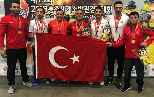 İstanbul İtfaiyesi, Dünya İtfaiye Oyunları'nda madalyaları topluyor