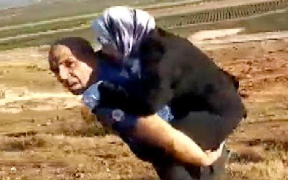 Yaralı Suriyeli kadını sırtında taşıyan polis o anları anlattı