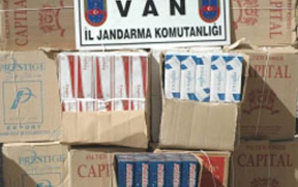 Van' da kaçak sigara operasyonu
