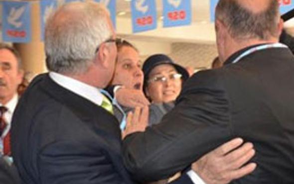 DSP kongresinde yumruklar konuştu