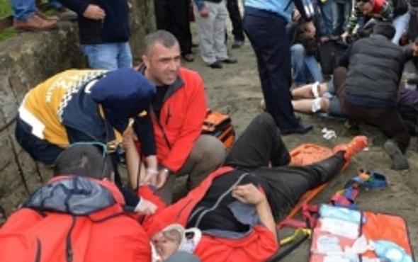 Paraşütle altlayıp duvara çakıldılar