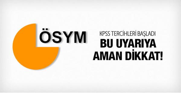 KPSS tercih yapma başvuru ekranı ÖSYM