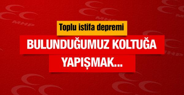 MHP'de toplu istifa depremi