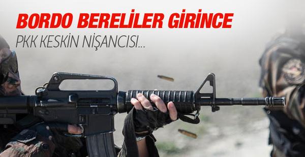 Bordo Bereliler Sur'a girince PKK keskin nişancısı...