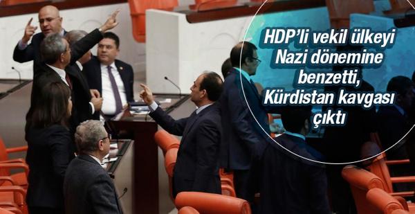 HDP'nin Nazi benzetmesi Meclis'i gerdi