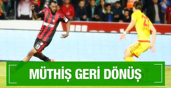 Kayserispor-Gaziantepspor maçının geniş özeti