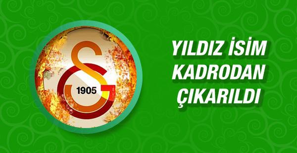 Galatasaray'da yıldız isim kadrodan çıkarıldı