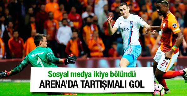 Galatasaray Trabzonspor maçında tartışmalı gol