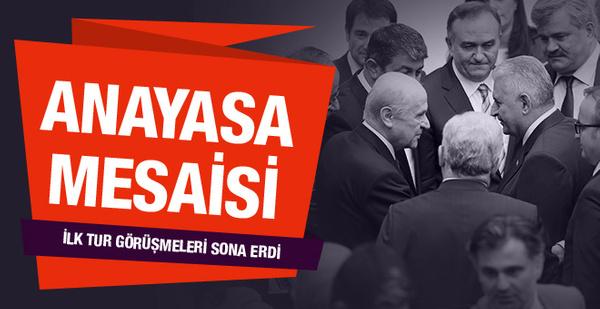 Yeni anayasada ilk tur görüşmeleri bitti