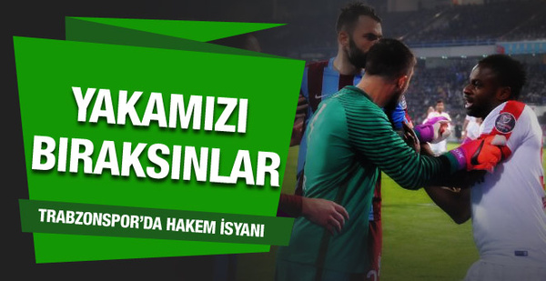 Trabzonspor'dan hakeme yenildik tepkisi
