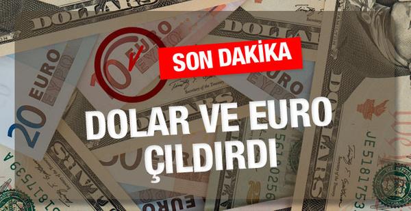 Dolar çıldırdı Euro rekor kırdı dolar kuru son dakika haberleri