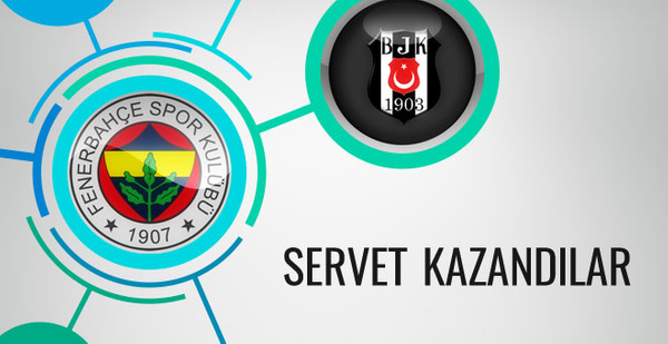 Beşiktaş ve Fenerbahçe'ye servet