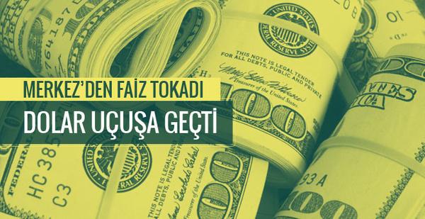 Dolar kuru bugün coştu dolar Merkez'den faiz tokadı