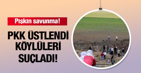 Diyarbakır patlamasını PKK üstlendi köylüleri suçladı!
