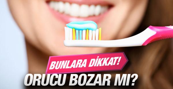 Orucu bozan şeyler diş fırçalamak orucu bozar mı?