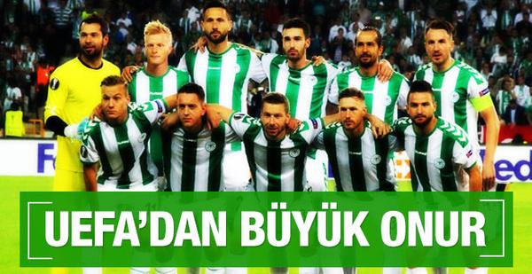Konyaspor'un yıldızına UEFA'dan büyük onur