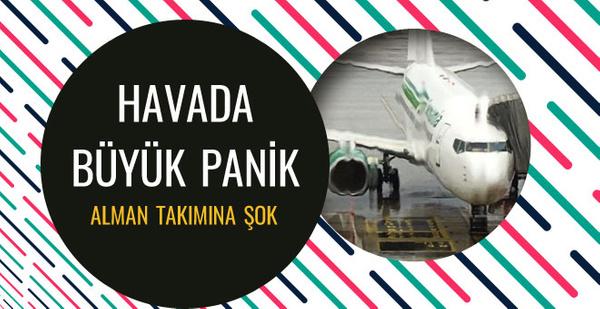 Antalya kampına gelen takımın uçağına yıldırım çarptı