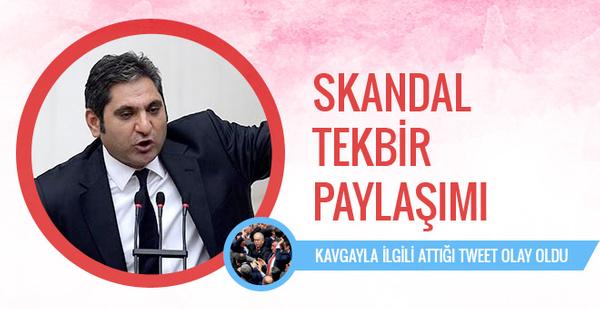 CHP'li Aykut Erdoğdu'dan olay tekbir paylaşımı