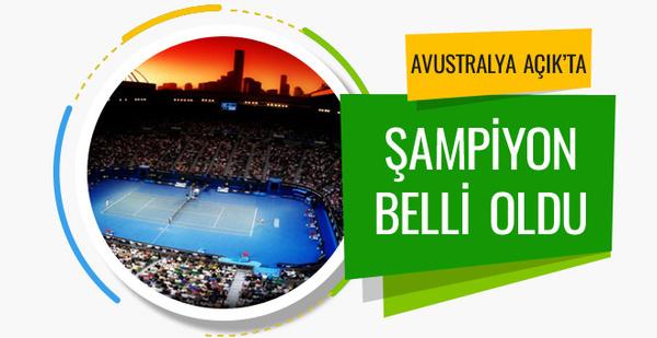 Avustralya Açık'ta şampiyon Roger Federer