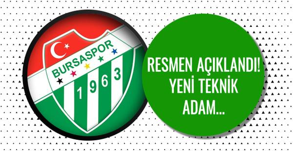 Bursaspor'dan resmi açıklama geldi! İşte yeni teknik adam...