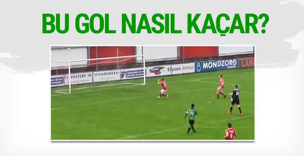 Amatör futbolcu imkansızı başardı! Bu gol nasıl kaçar?