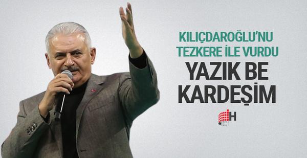 Başbakan Yıldırım'dan Kılıçdaroğlu'na İdlib bombardımanı