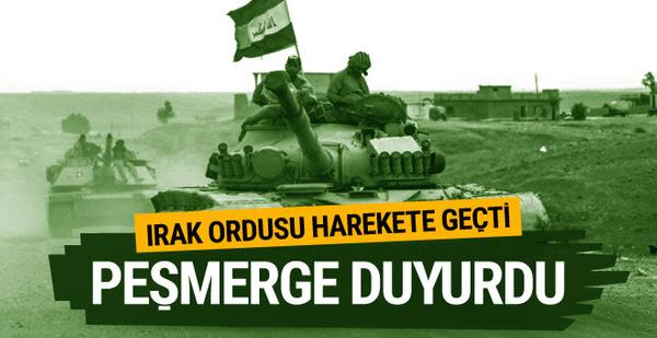 Peşmerge duyurdu: Irak ordusu harekete geçti