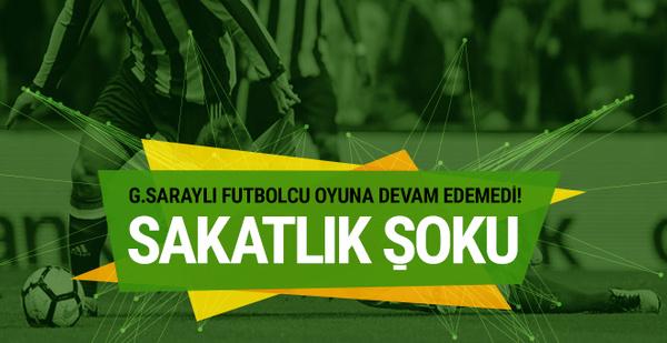 Galatasaray'da sakatlık şoku! Oyuna devam edemedi