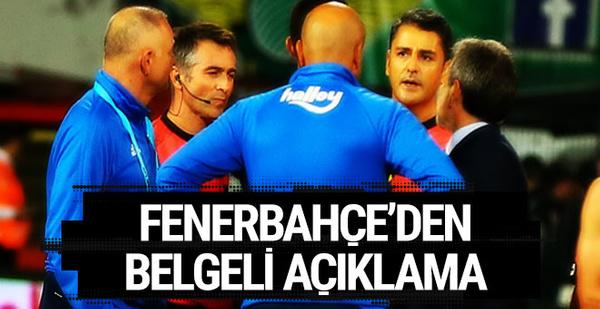 Fenerbahçe'den belgeli açıklama
