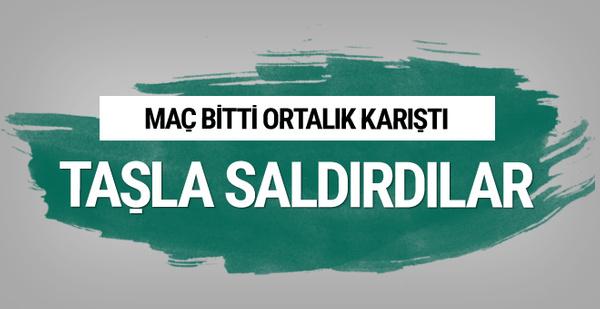 Bucaspor kafilesine Diyarbakır'da taşlı saldırı!