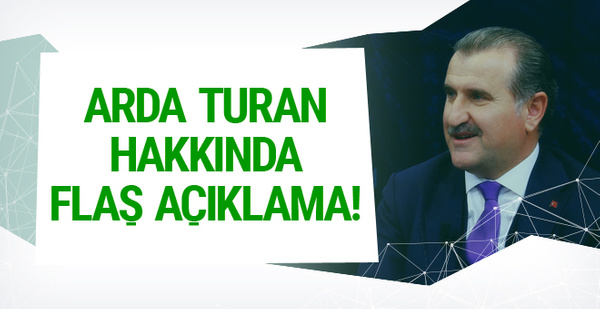 Osman Aşkın Bak'tan Arda Turan açıklaması